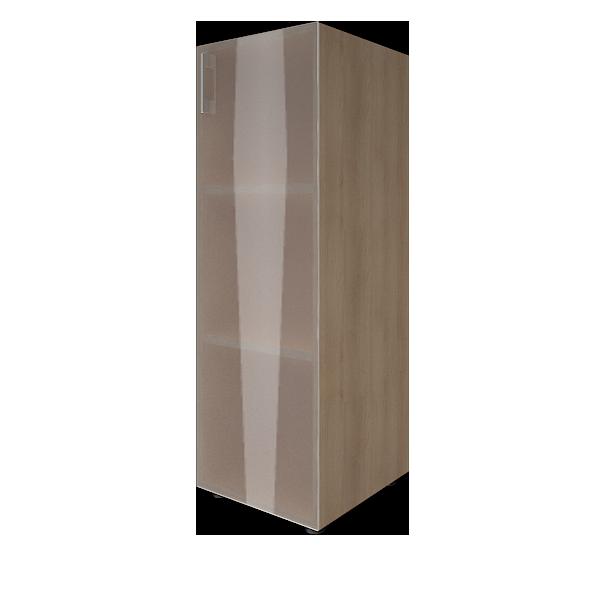 Стеллаж средний узкий правый со стеклом 400x450x1195
