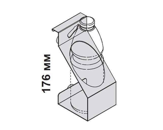 Подвесной держатель для бутылок 80x100x176