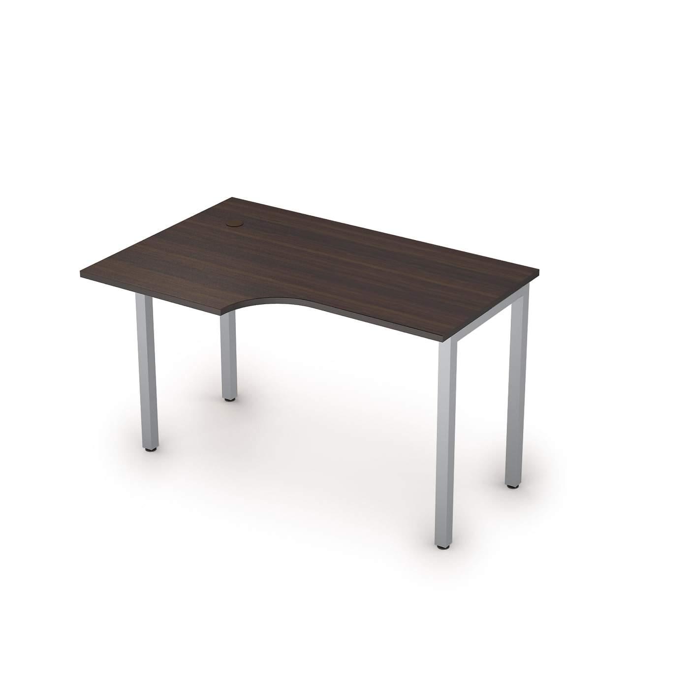 Столы на металлических опорах без экрана левый 1600х800х750