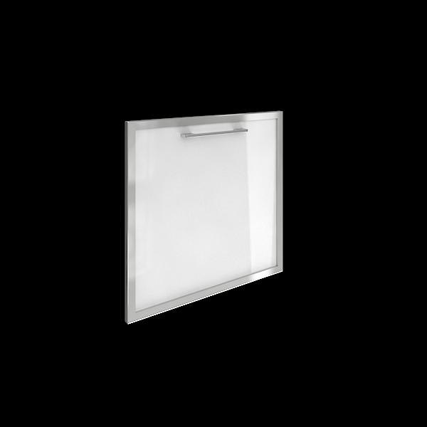 Дверь для тумбы модульной стеклянная левая 520х544х22