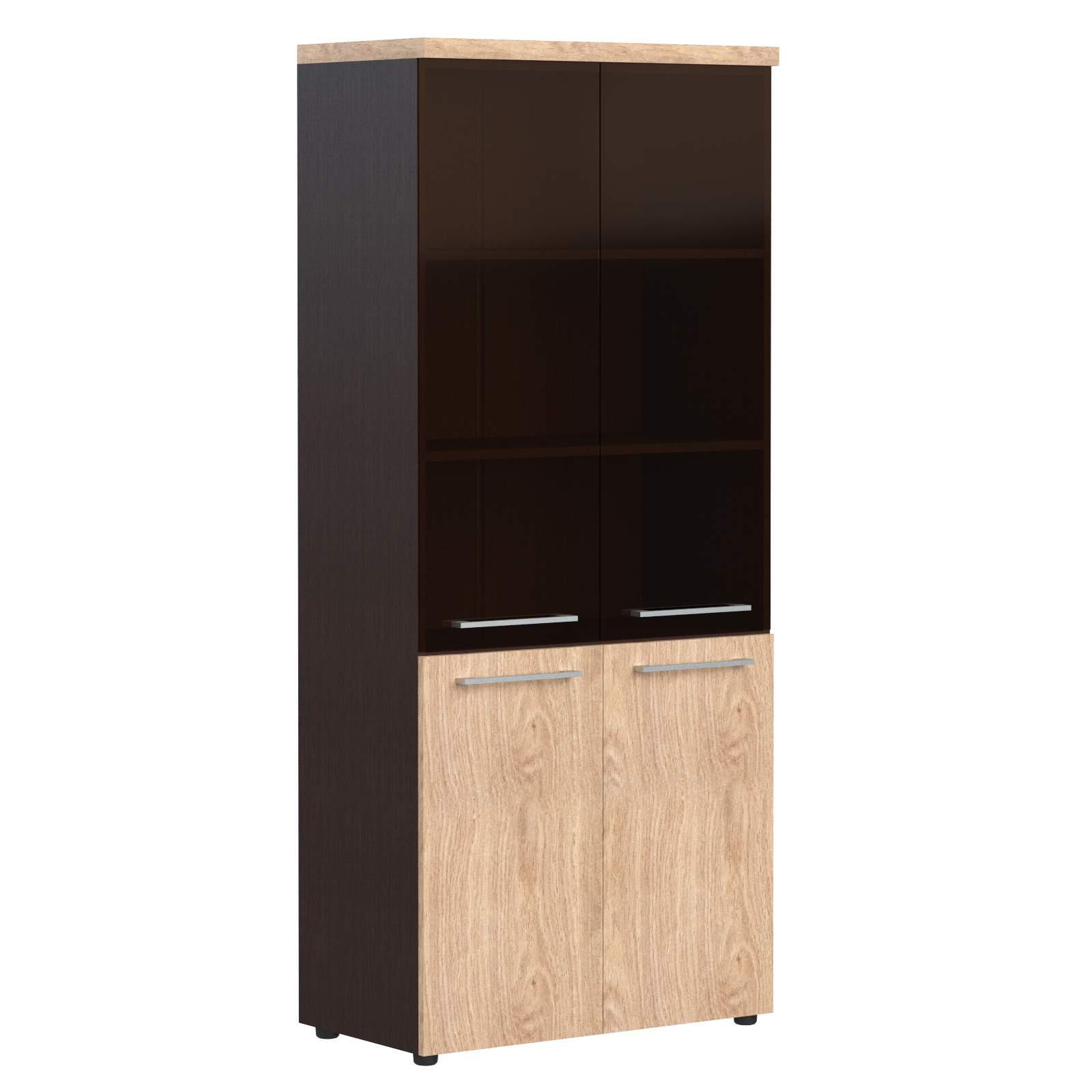 Шкаф полуоткрытый со стеклом 850x430x1930