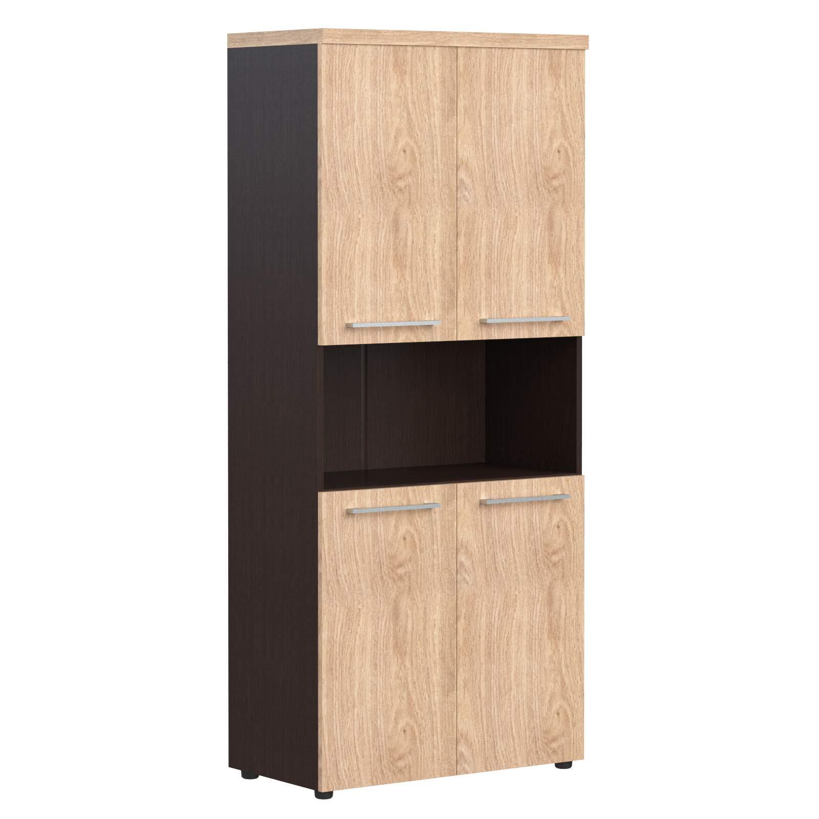 Шкаф полуоткрытый с 4мя дверями 850x430x1930