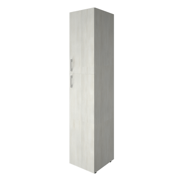 Шкаф высокий узкий закрытый 2 двери 400x450x1990