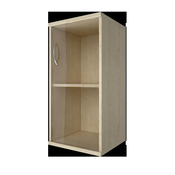 Шкаф низкий узкий правый со стеклом 403x365x823