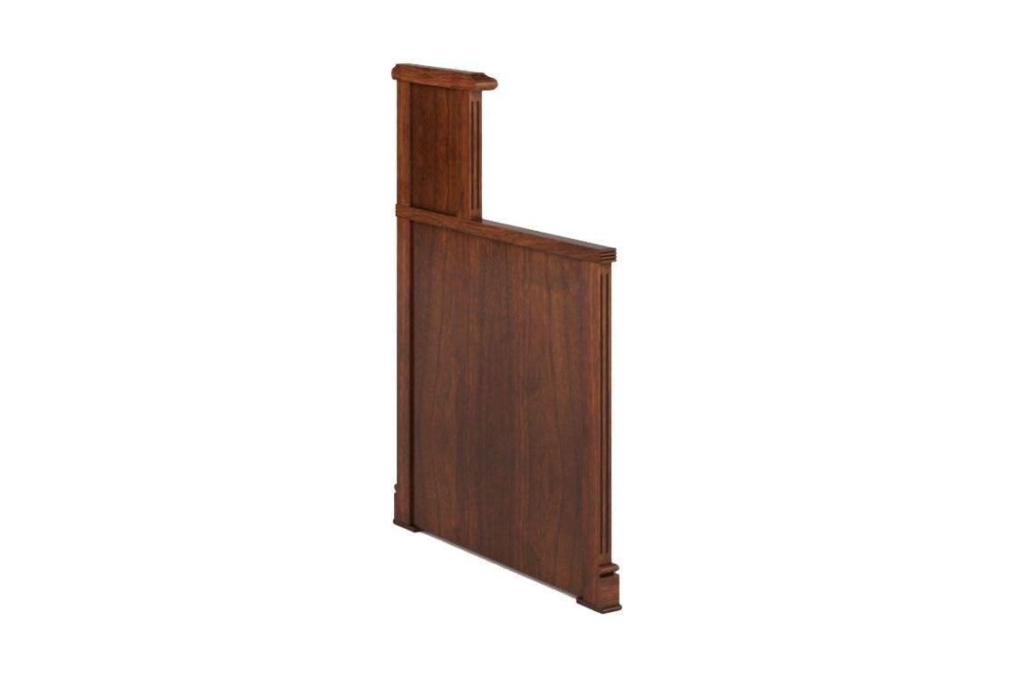 Боковая панель стола левая для приемной 870x68x1150