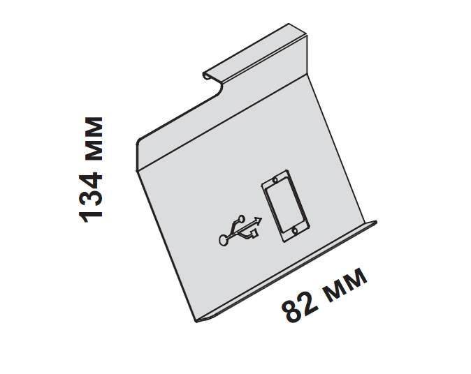 Подвесной держатель для смартфонов 164x90x134