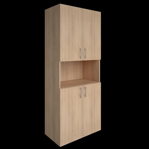Шкаф высокий с 4мя дверцами  800x450x1990