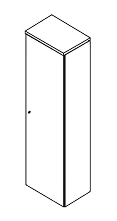 Гардероб 60 с замком 600x420x2069