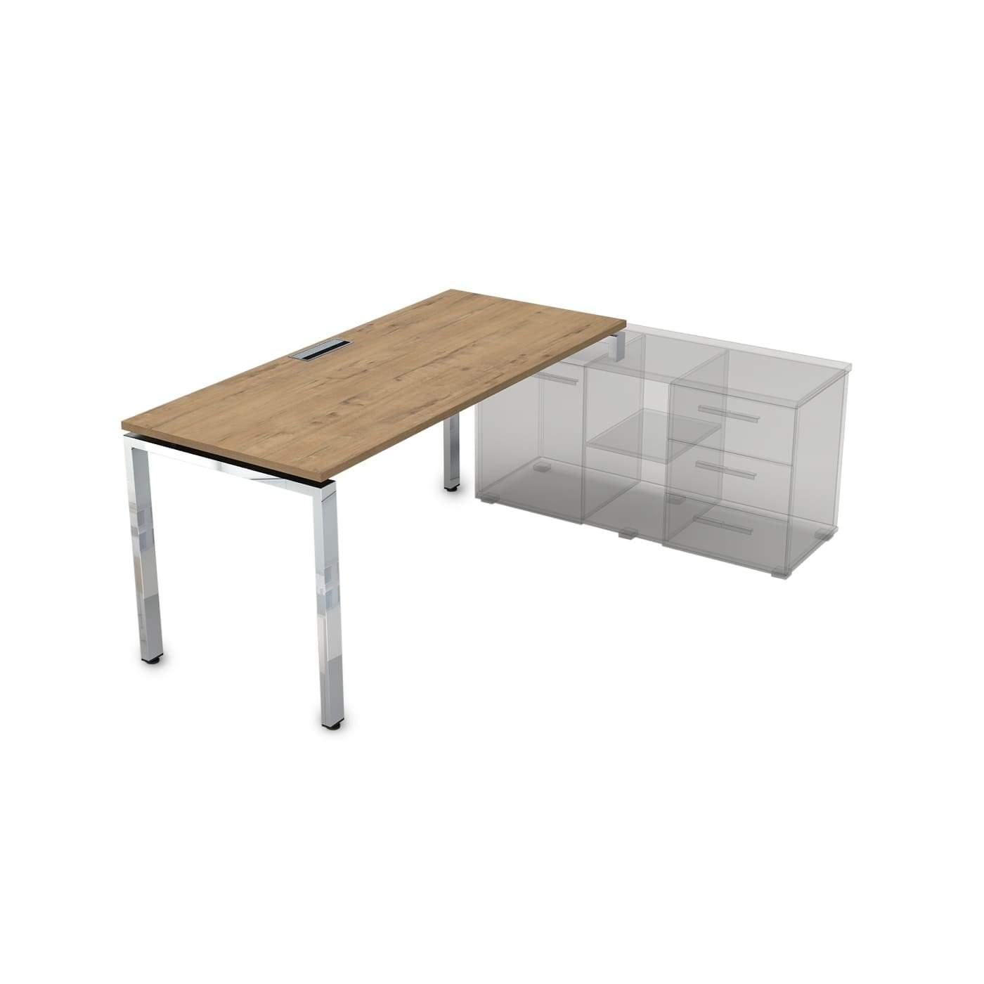 Стол рабочий, прямолинейный, правый 1600x700x750