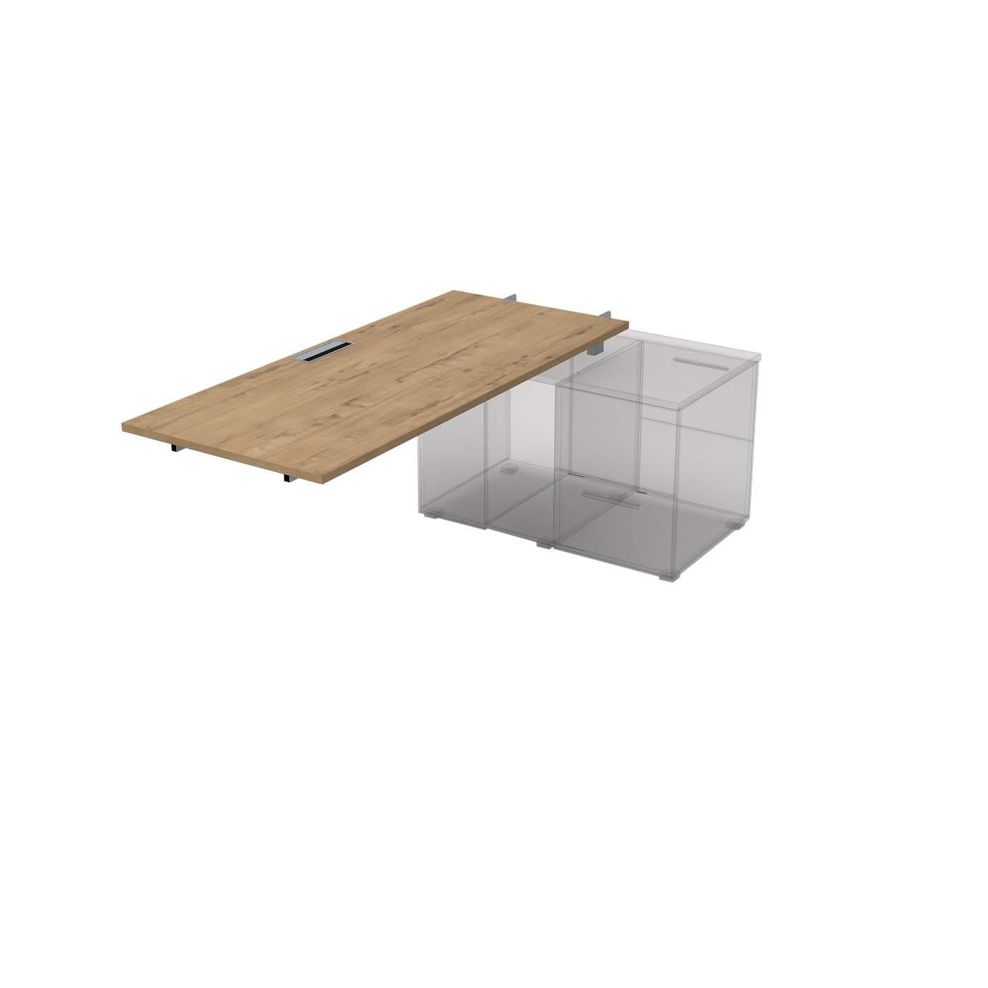 Стол для крепления на тумбу, средний модуль 1600х700х750