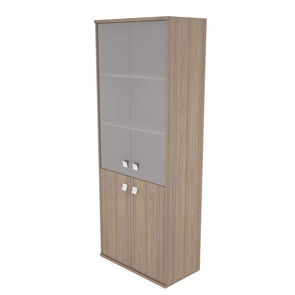Шкаф высокий комбинированный со стеклом 778х410х1975