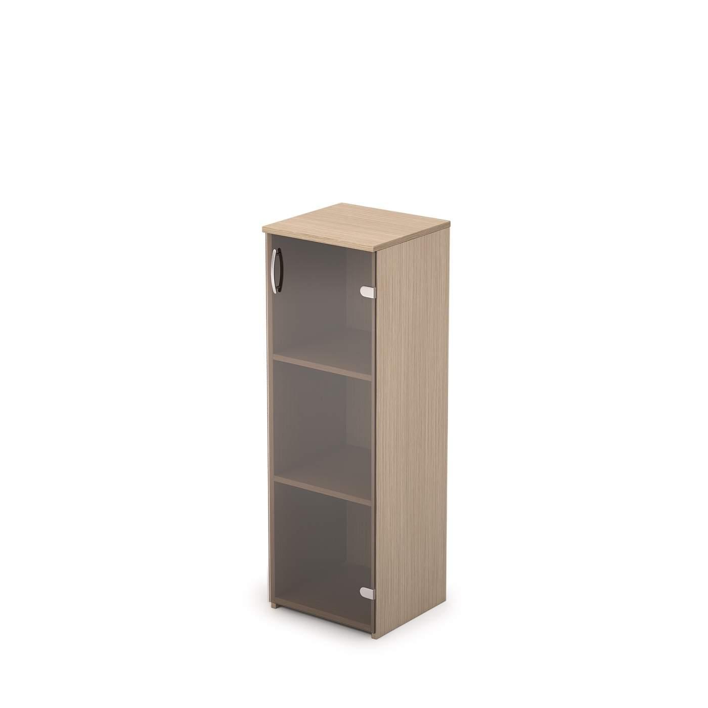 Шкаф средний узкий со стеклом 365х370х1094