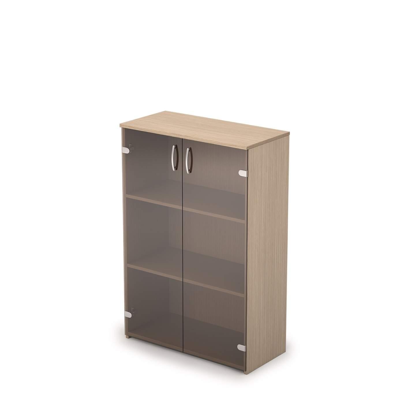 Шкаф средний со стеклом 730х370х1094