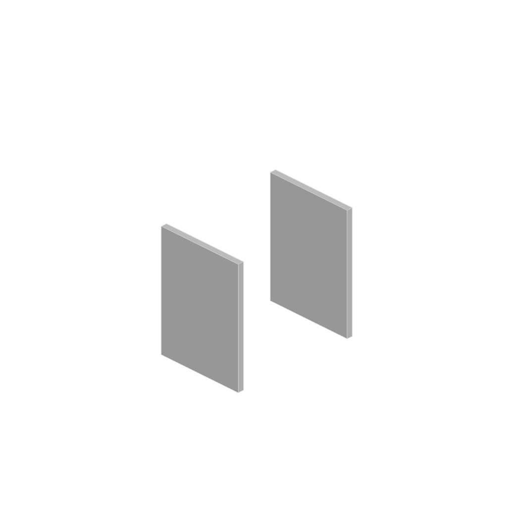 Комплект из топа и боковин для низких шкафов 1838x469x18