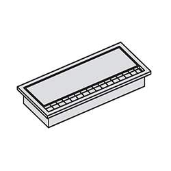 SISO рамка серебристая 276х120х25,7
