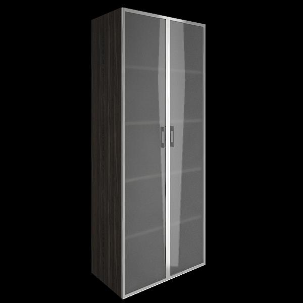 Шкаф высокий закрытый стеклянные двери 800x450x1990