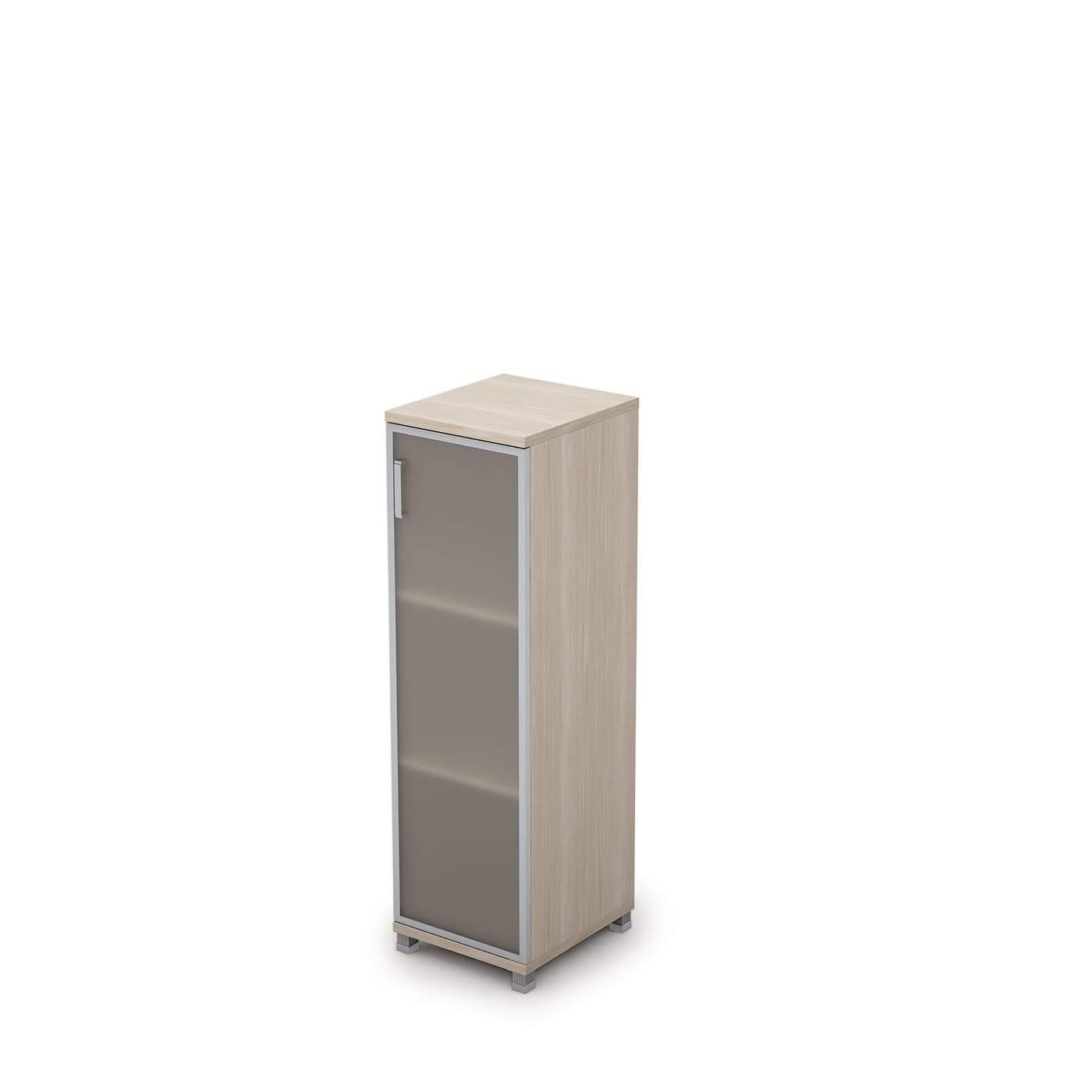 Шкаф узкий средний со стеклом 400x450x1348