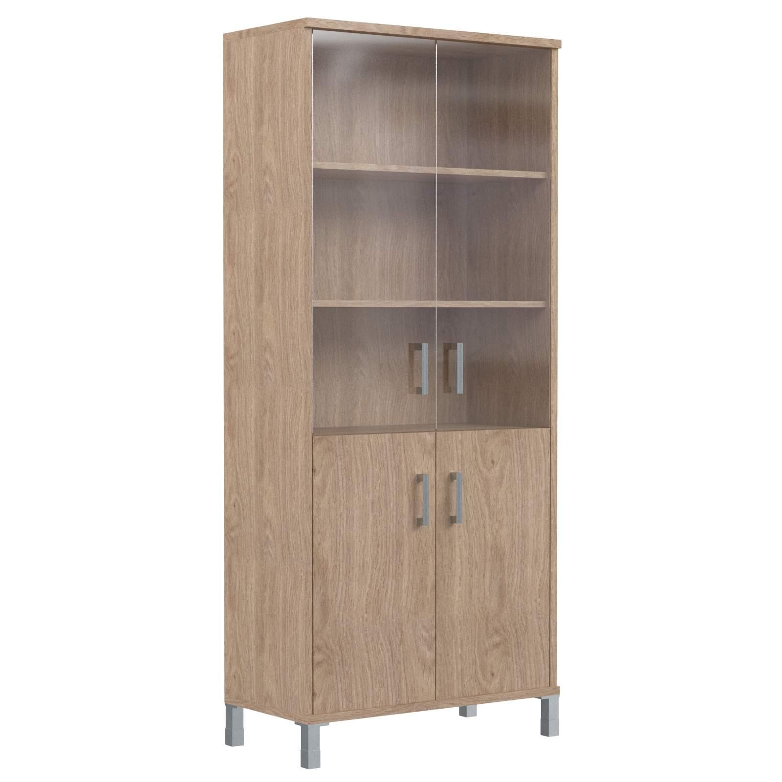 Шкаф комбинированный со стеклом 900х435х2004
