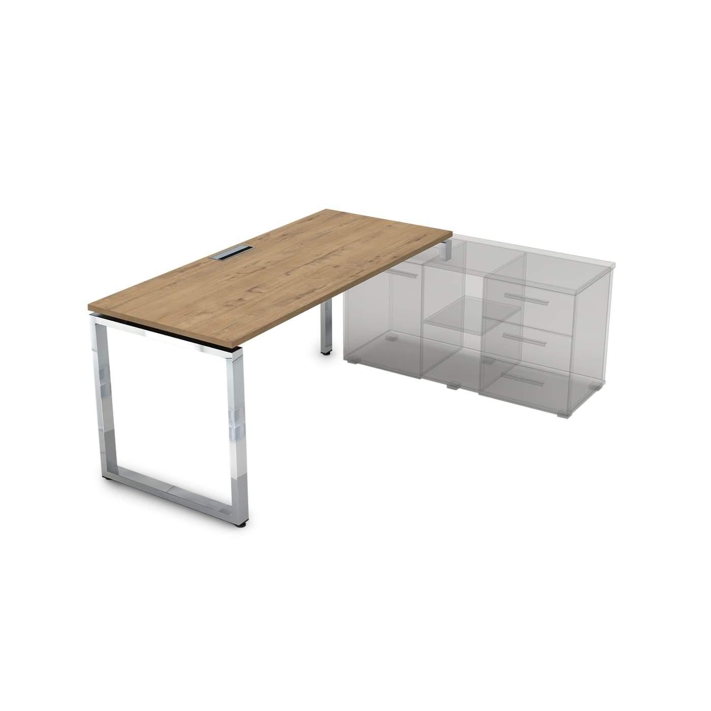 Стол рабочий, прямолинейный, правый 1400x700x750