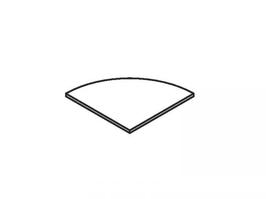 Верх стеллажа углового 420x420x25