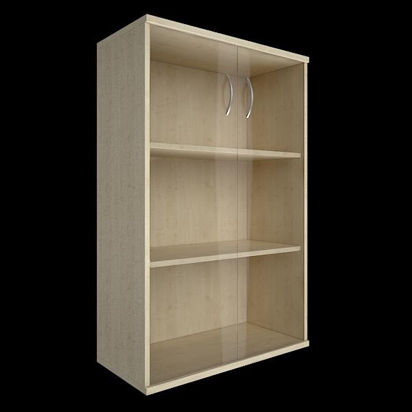 Шкаф средний со стеклом 770x365x1200