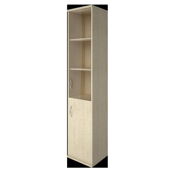 Шкаф высокий узкий правый со стеклом 403x365x1975