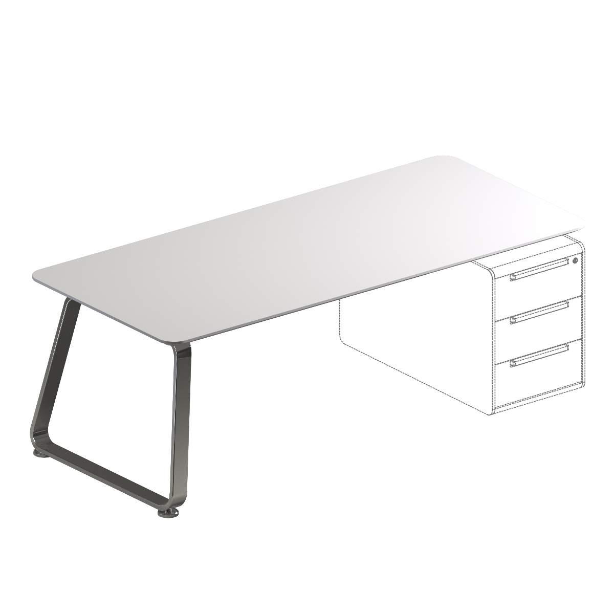 Прямоугольный стол на 1 опоре 1980x900x720