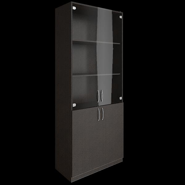 Шкаф высокий комбинированный со стеклом 770х359х1914