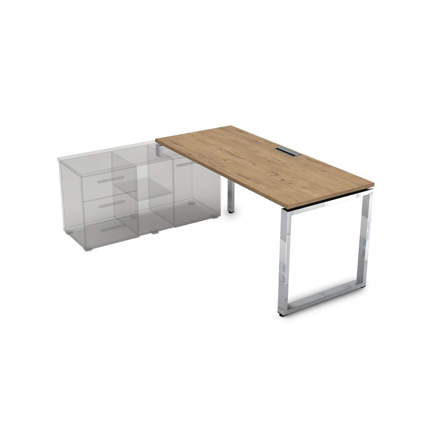 Стол рабочий, прямолинейный, левый 1600x900x750