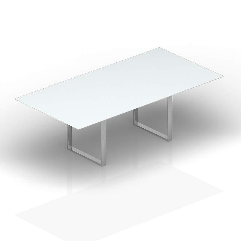 Стол для совещаний стекло 2400х1200х72