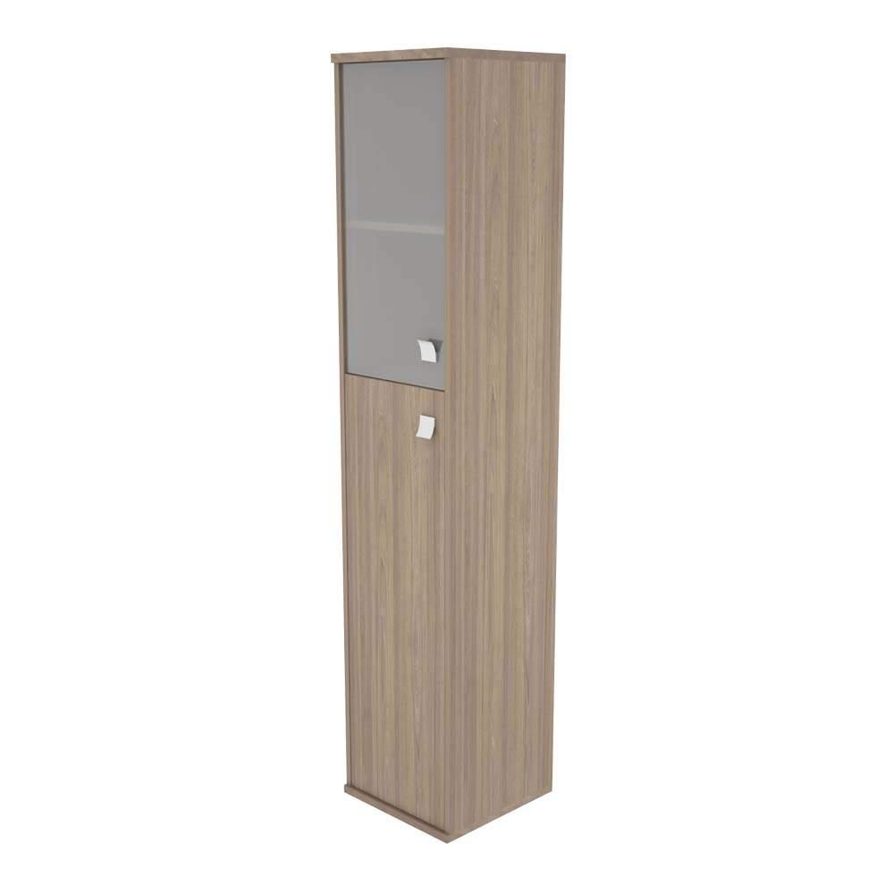 Шкаф высокий узкий левый комбинированный со стеклом 412х410х1980