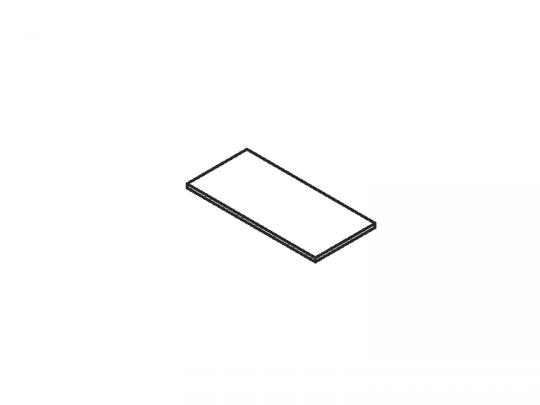 Верх стеллажа 90 900x420x25