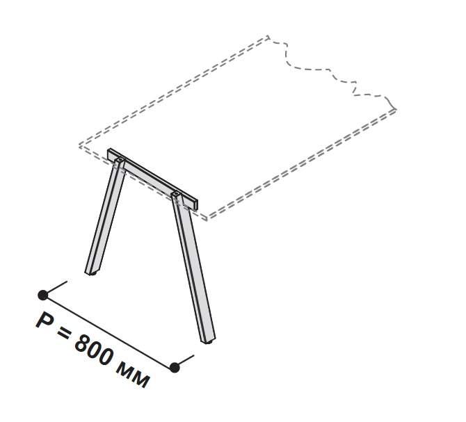 А-образная опора для стола 710