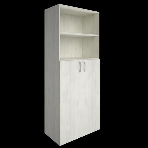 Шкаф высокий полуоткрытый с 2мя средними дверьми   800x450x1990
