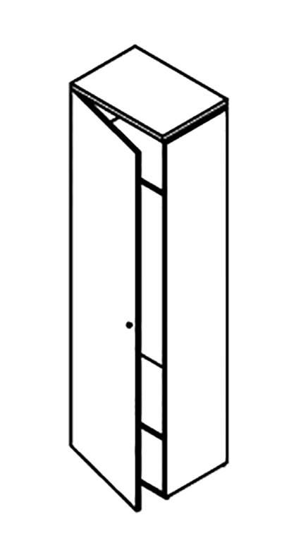 Гардероб 60 с замком 600x420x2062