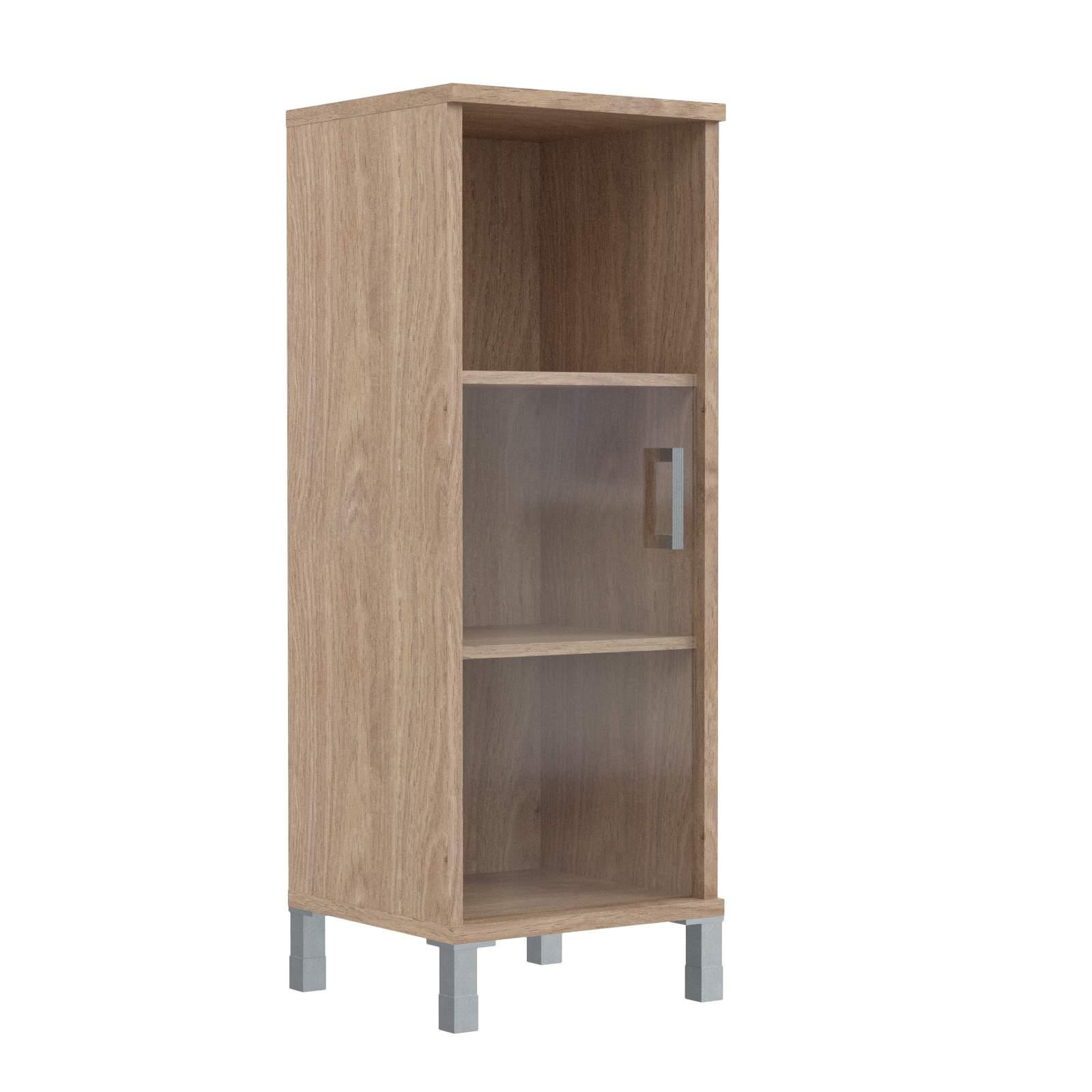 Шкаф колонка средняя с малой стеклянной дверью левая 475х435х1236