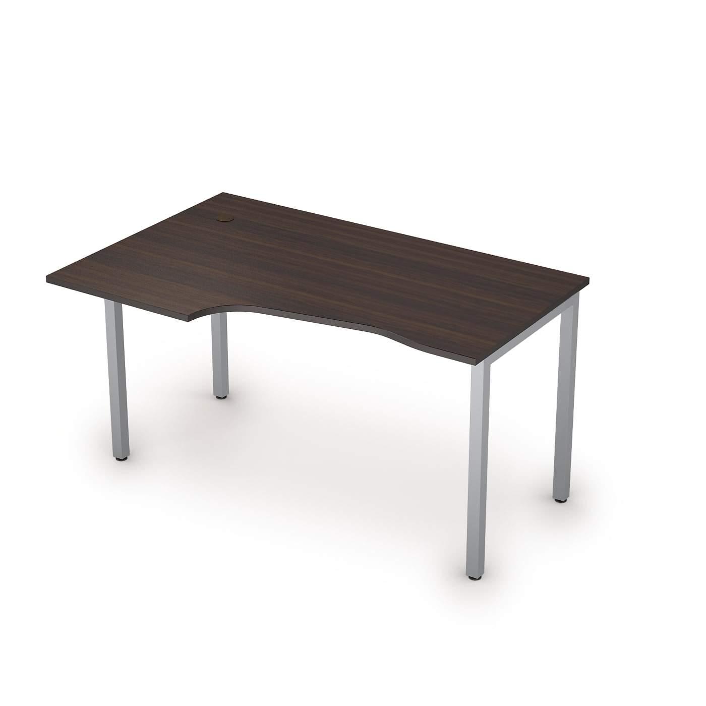 Столы на металлических опорах без экрана правый 1400х900х750