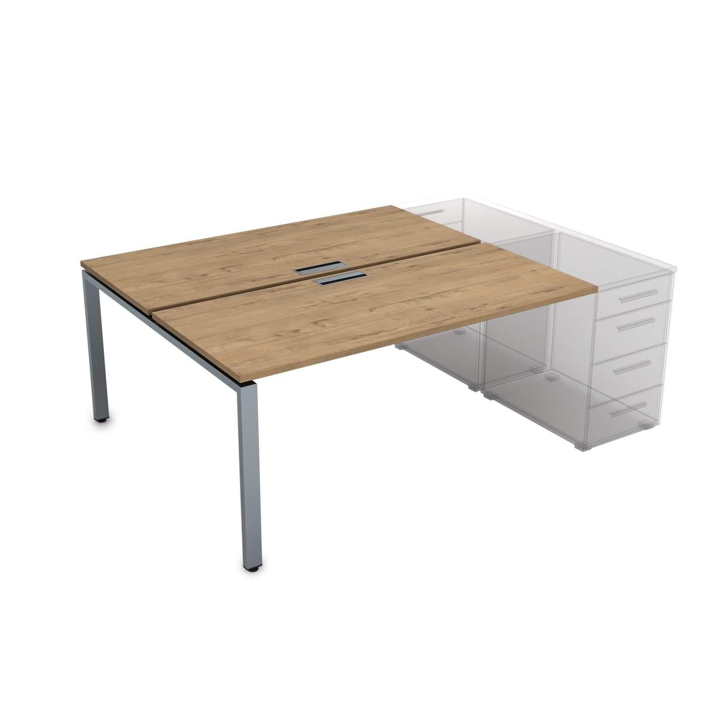 Стол приставной системы Бенч, сдвоенный, на 2 рабочих места 1400х1635х750