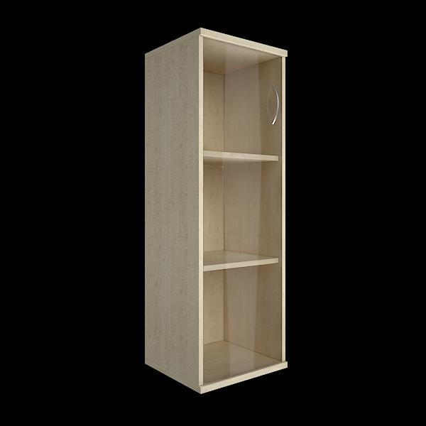 Шкаф узкий закрытый со стеклом левый 403x365x1200