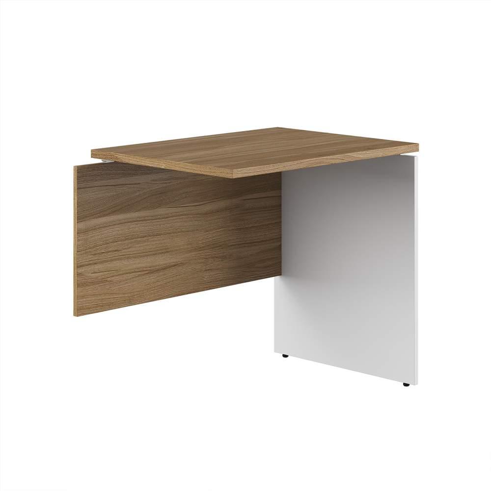 Приставной стол на ДСП опорах правый 800x600x750