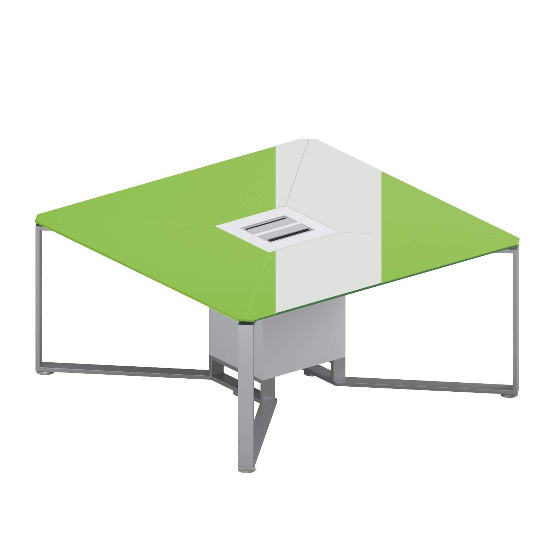 Квадратный стол (стекло)  1600x1600x750