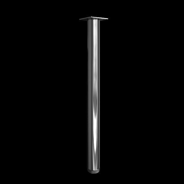 Опора металлическая (хром) 60х60х710