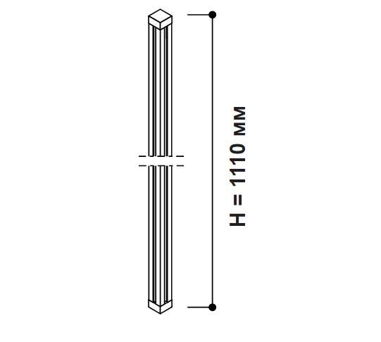 Алюминиевый профиль 47x47x1110