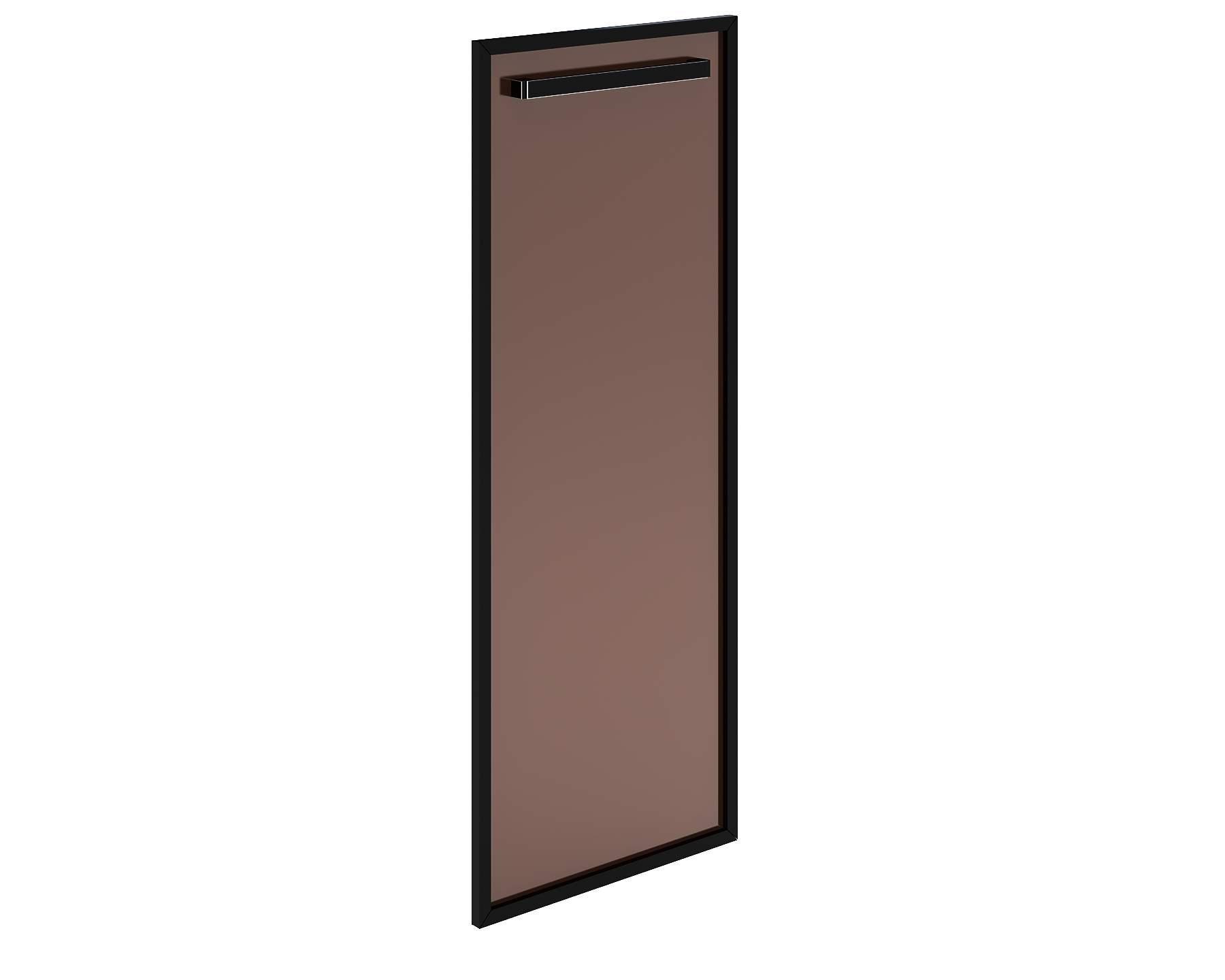 """Дверь стеклянная правая с цветом профиля """"коньяк"""" 444х20х1194"""