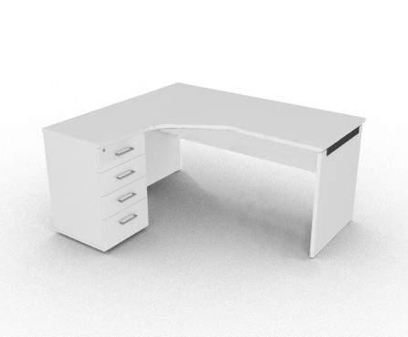 Стол письменный левый 1580/1380x680/500x750