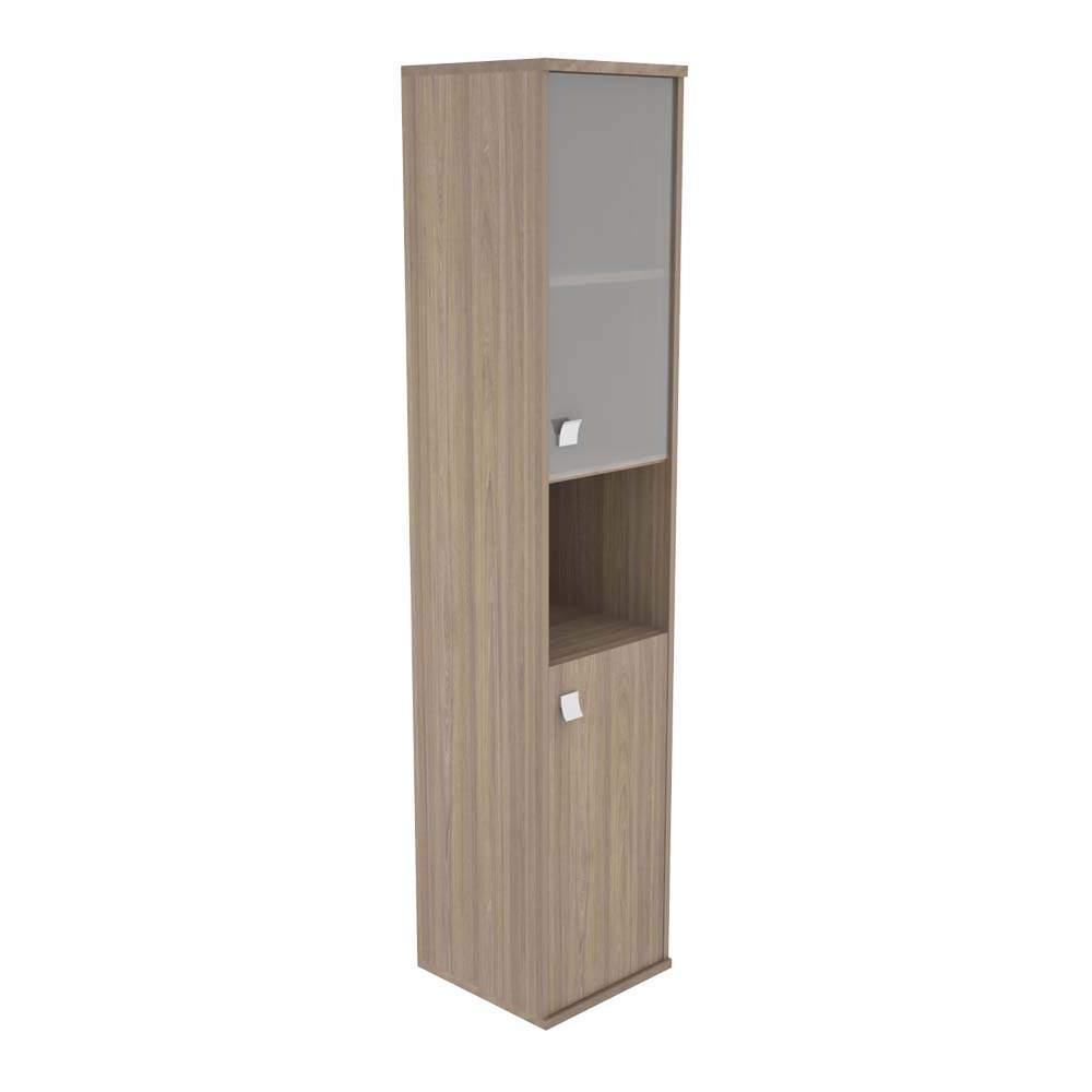 Шкаф высокий узкий правый комбинированный со стеклом 404х365х1980