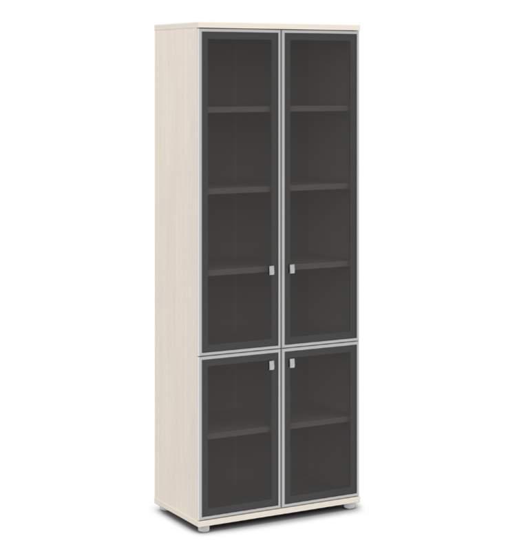 Шкаф для документов со стеклом 820х440х2195 (4 двери)