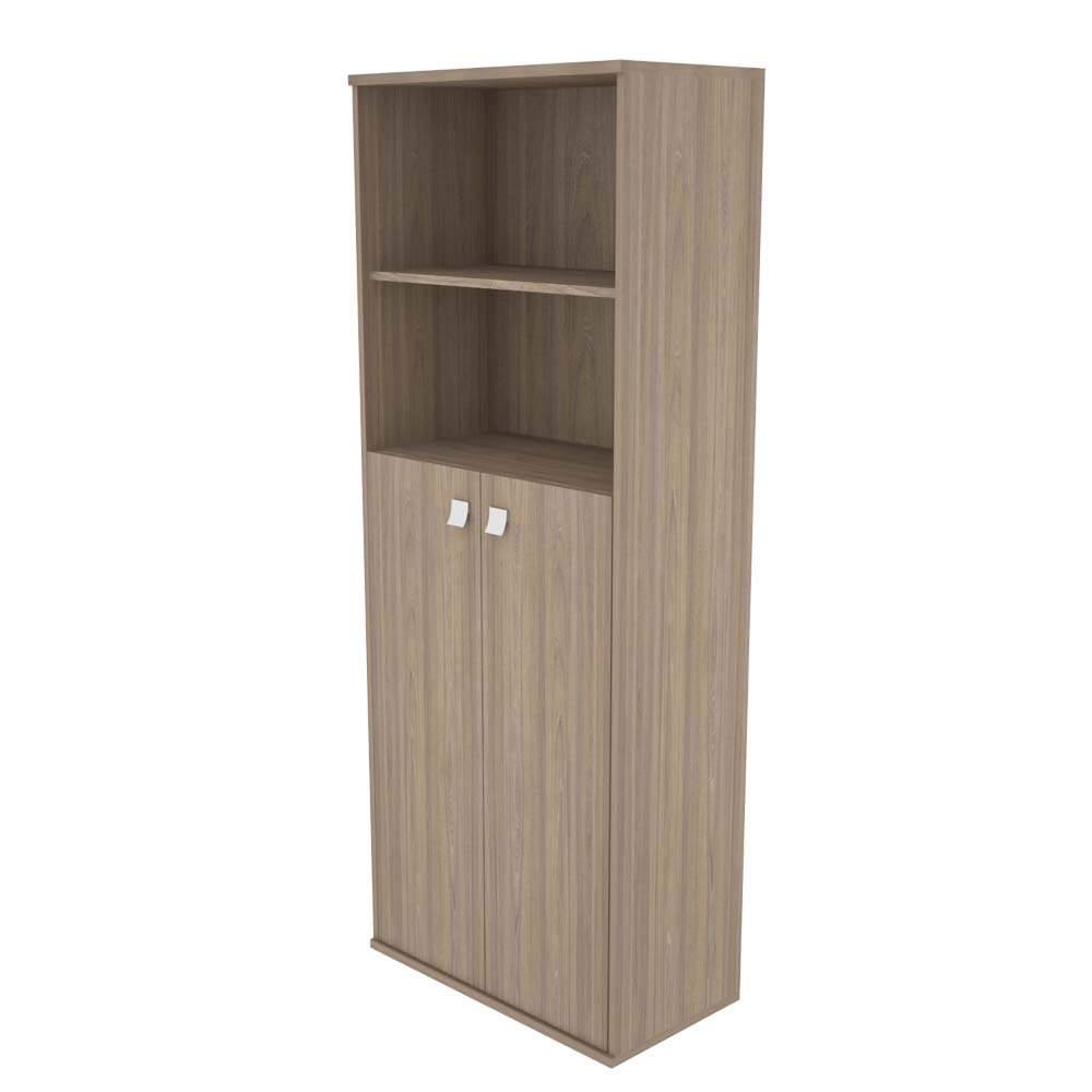 Шкаф высокий полуоткрытый с 2мя средними дверьми 778х410х1975