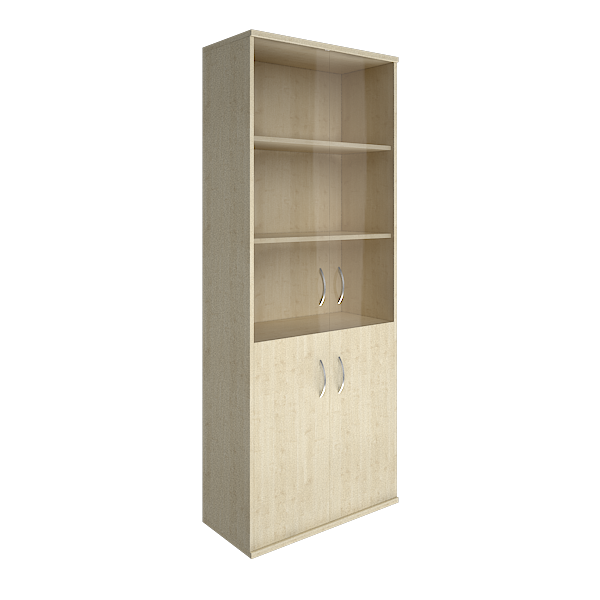 Шкаф высокий широкий со стеклом 770x365x1975