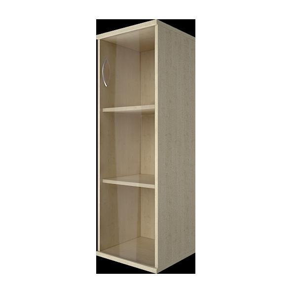 Шкаф узкий закрытый со стеклом правый 403x365x1200